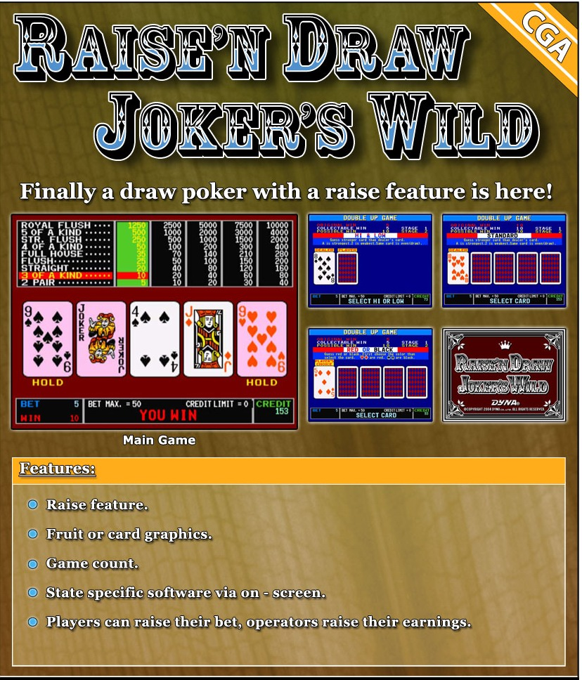 Raise And Draw Joker S Wild Poker Cherry Master Boards And
