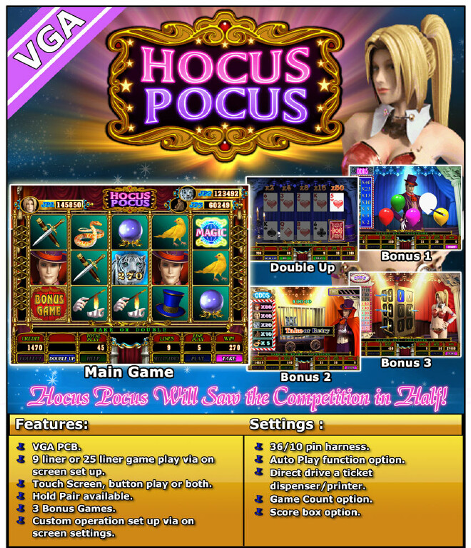 Hocus pocus casino bingo and casino concerts