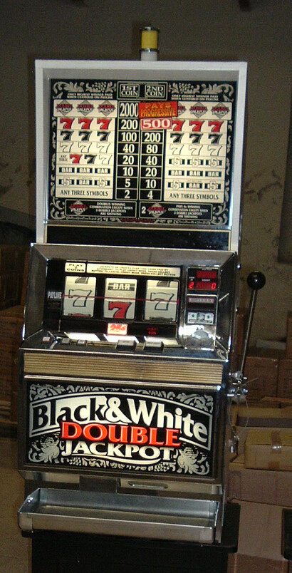 Bally Black and White double slot machine