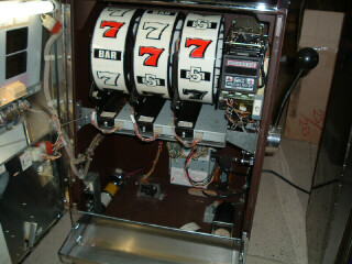 Slot machine inside